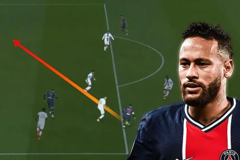 Kỹ thuật Neymar chọc khe đối phương