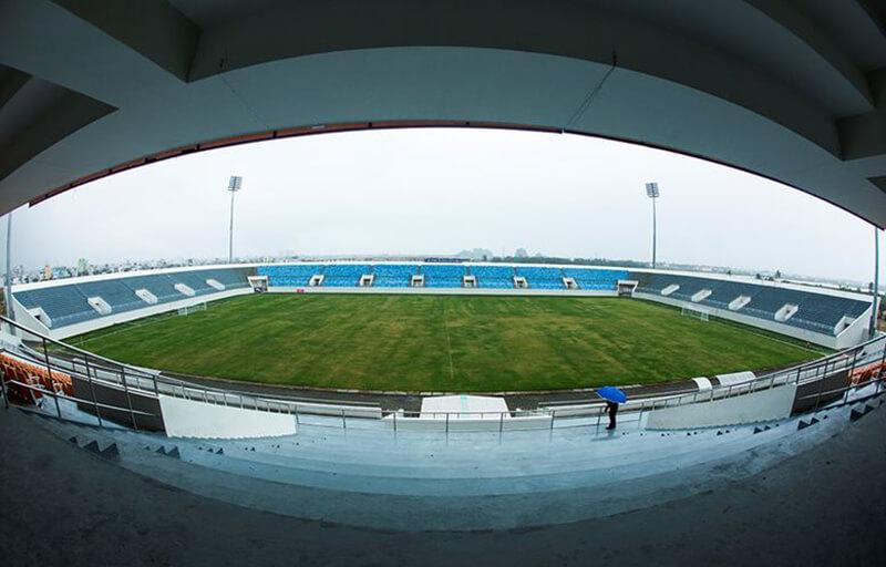 Tình trạng hiện tại của sân vận động đá bóng Hòa Xuân