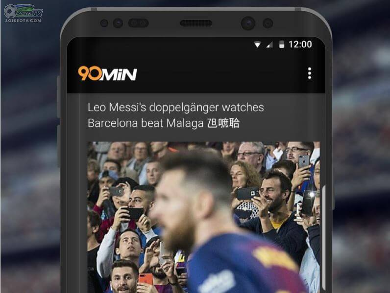 Ứng dụng xem bóng đá 90min