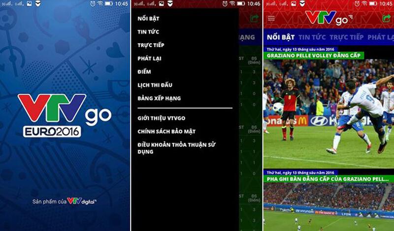Ứng dụng xem bóng đá VTV go
